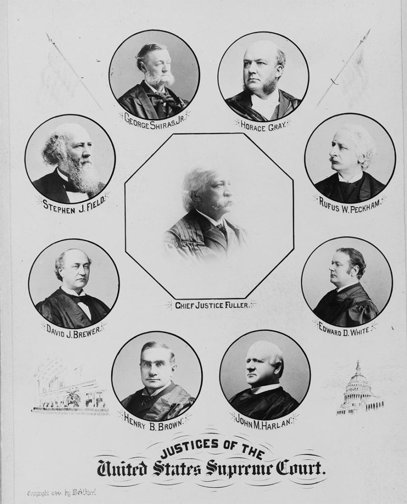 The nine justices of Supreme Court, 1896 (Library of Congress)