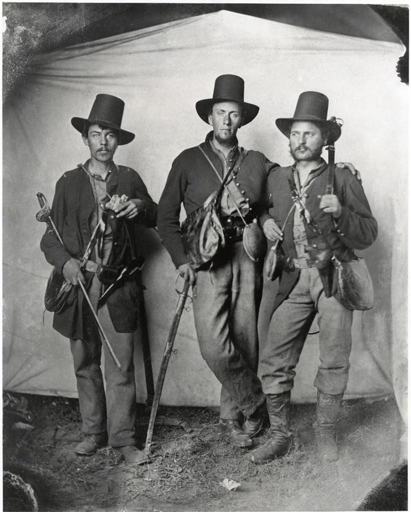 Albion W. Tourgée, left, and fellow lieutenants of Ohio's 105th Infantry, Tennessee, July 1863 (Chautauqua County Historical Society)